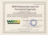 weee-electrocyclosis_certificate